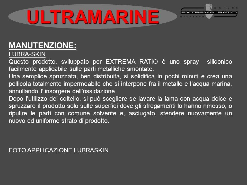 MANUTENZIONE: LUBRA-SKIN Questo prodotto, sviluppato per EXTREMA RATIO è uno spray siliconico facilmente applicabile sulle parti metalliche smontate.