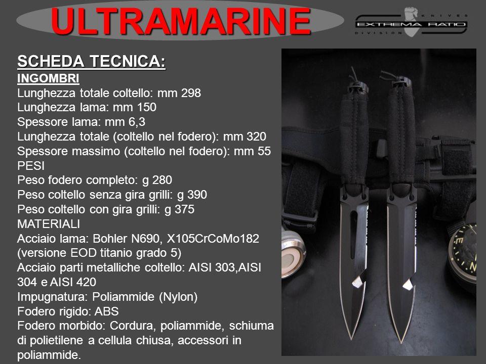 SCHEDA TECNICA: INGOMBRI Lunghezza totale coltello: mm 298 Lunghezza lama: mm 150 Spessore lama: mm 6,3 Lunghezza totale (coltello nel fodero): mm 320