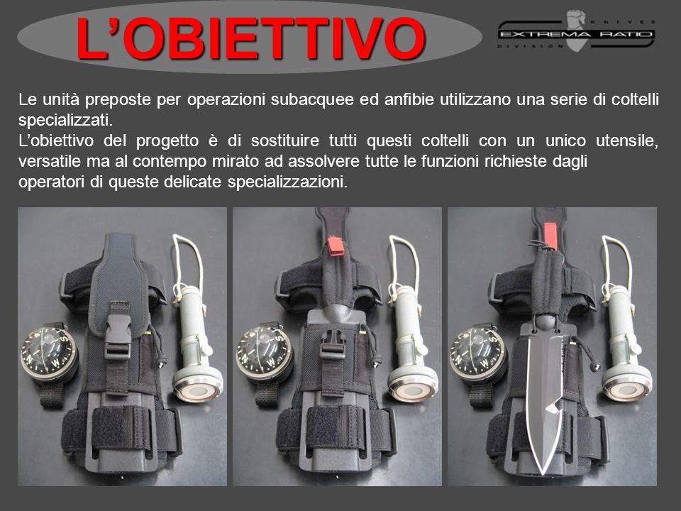 Le unità preposte per operazioni subacquee ed anfibie utilizzano una serie di coltelli specializzati. Lobiettivo del progetto è di sostituire tutti qu