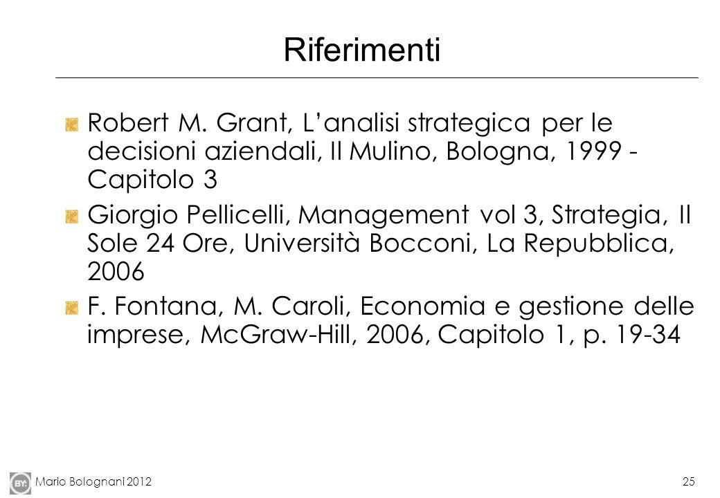 Mario Bolognani 201225 Riferimenti Robert M.
