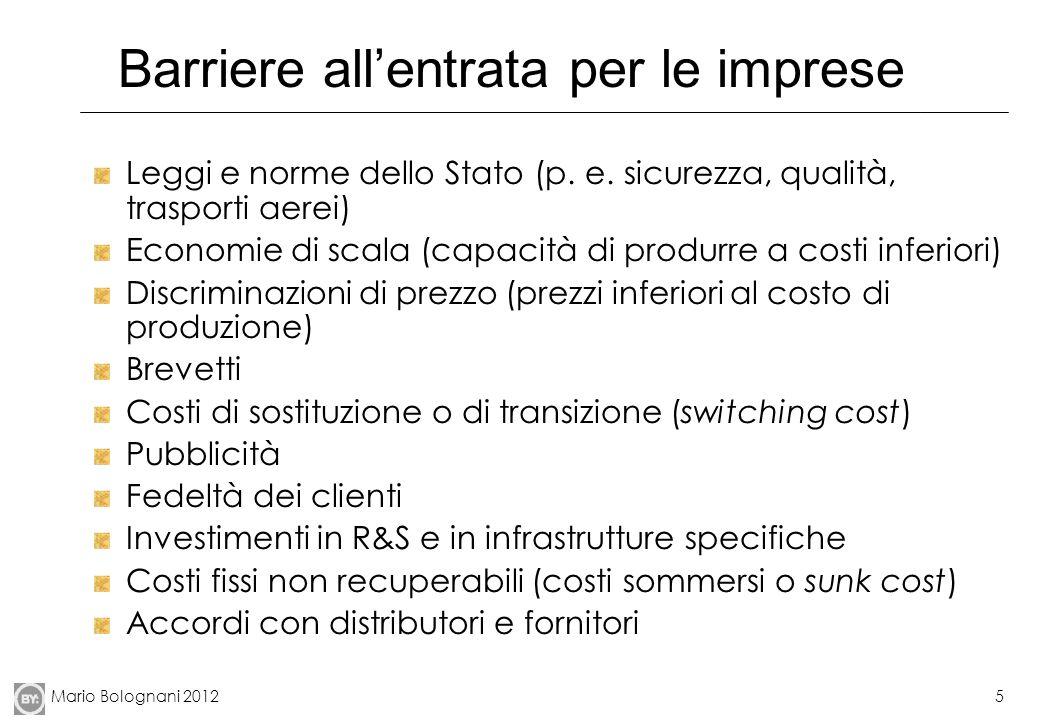 Mario Bolognani 20125 Barriere allentrata per le imprese Leggi e norme dello Stato (p.