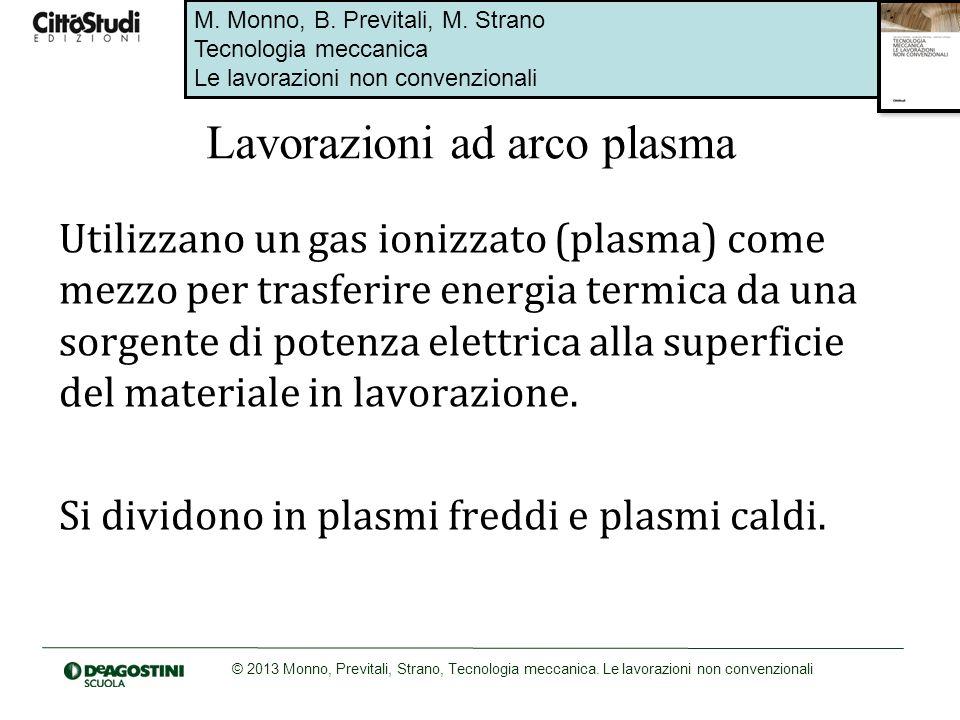 M. Monno, B. Previtali, M. Strano Tecnologia meccanica Le lavorazioni non convenzionali © 2013 Monno, Previtali, Strano, Tecnologia meccanica. Le lavo