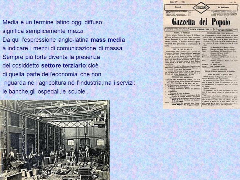 Media è un termine latino oggi diffuso: significa semplicemente mezzi. Da qui lespressione anglo-latina mass media a indicare i mezzi di comunicazione