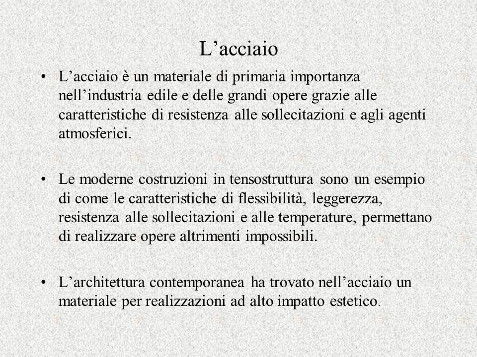 Lacciaio Lacciaio è un materiale di primaria importanza nellindustria edile e delle grandi opere grazie alle caratteristiche di resistenza alle sollec