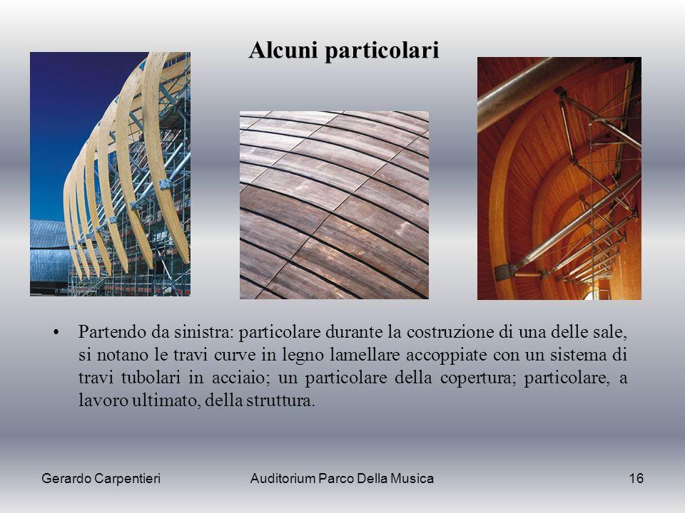Gerardo CarpentieriAuditorium Parco Della Musica16 Alcuni particolari Partendo da sinistra: particolare durante la costruzione di una delle sale, si n
