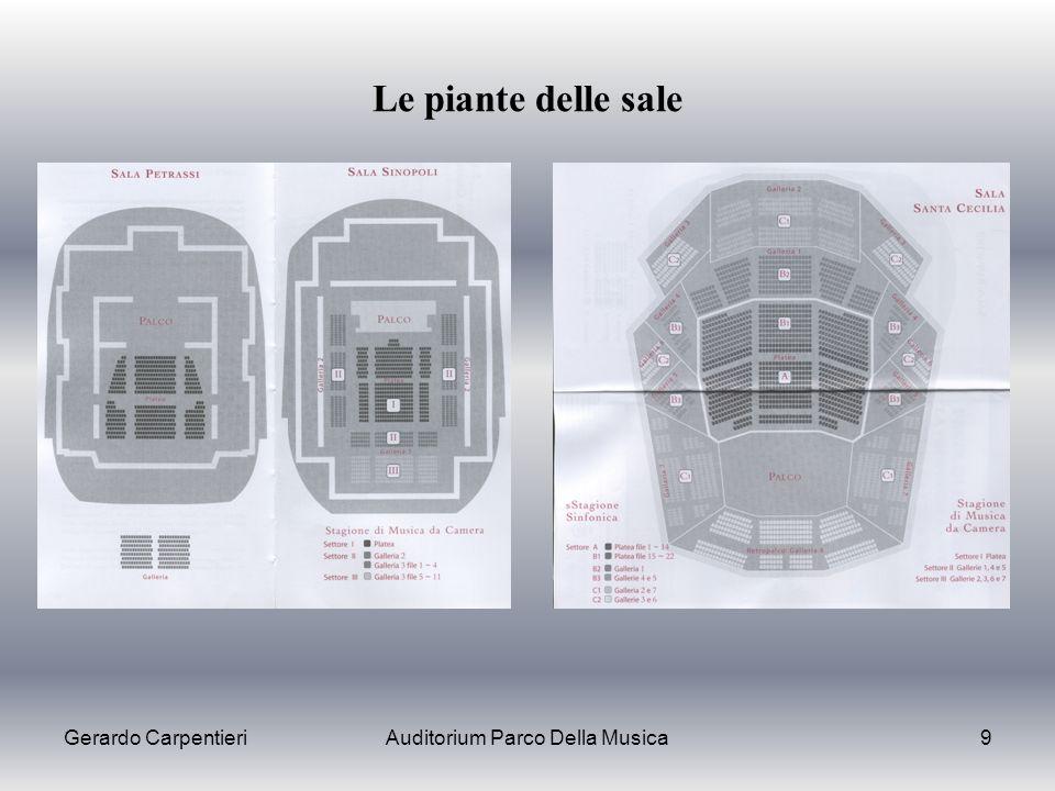 Gerardo CarpentieriAuditorium Parco Della Musica9 Le piante delle sale