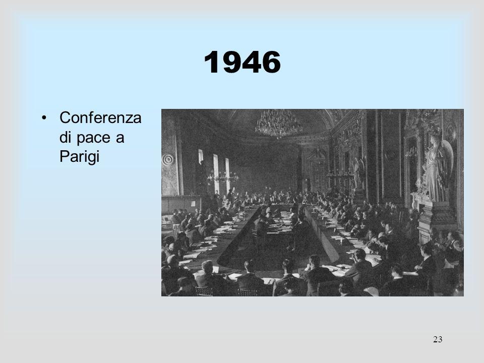 23 1946 Conferenza di pace a Parigi