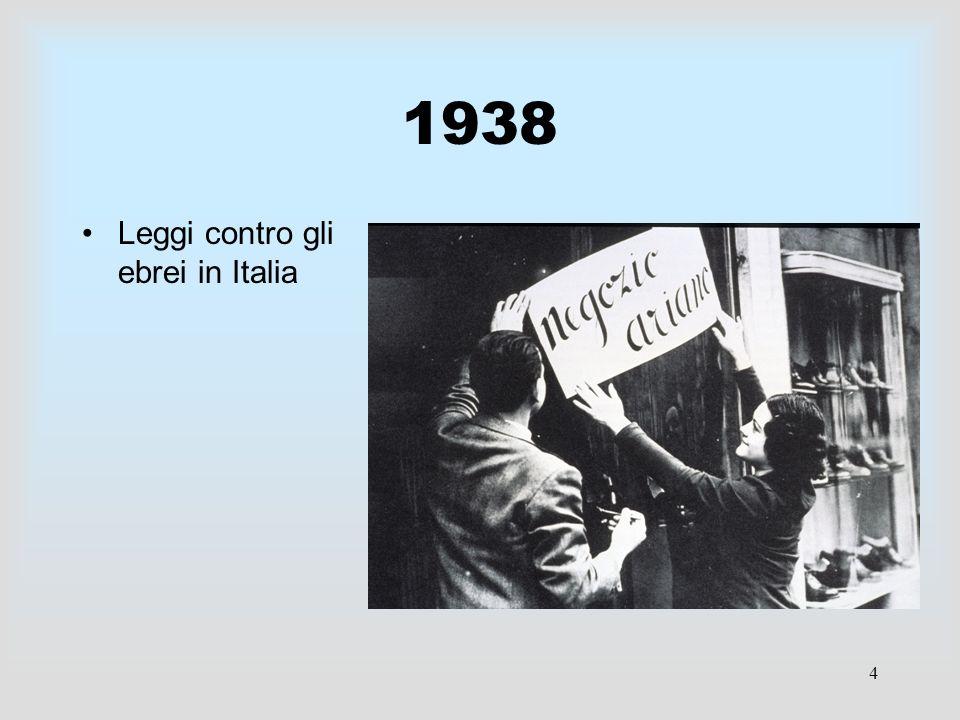 4 1938 Leggi contro gli ebrei in Italia
