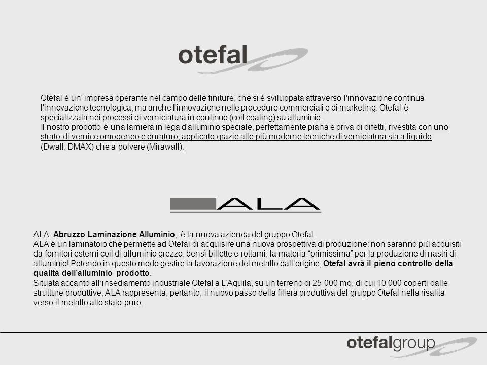 Otefal è un' impresa operante nel campo delle finiture, che si è sviluppata attraverso l'innovazione continua l'innovazione tecnologica, ma anche l'in