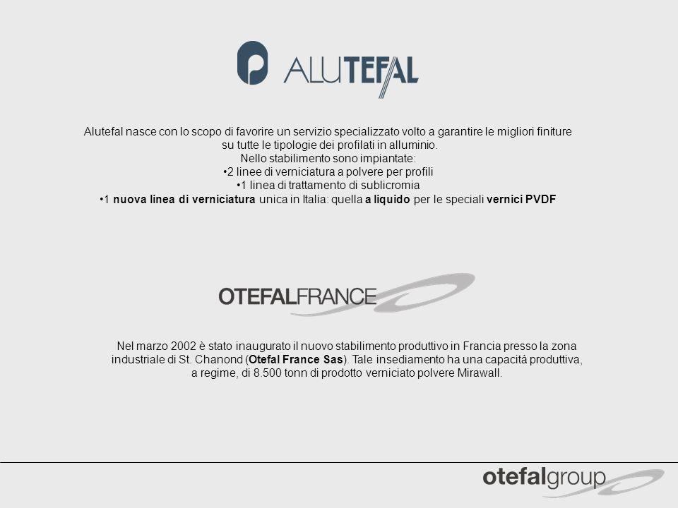 Alutefal nasce con lo scopo di favorire un servizio specializzato volto a garantire le migliori finiture su tutte le tipologie dei profilati in allumi