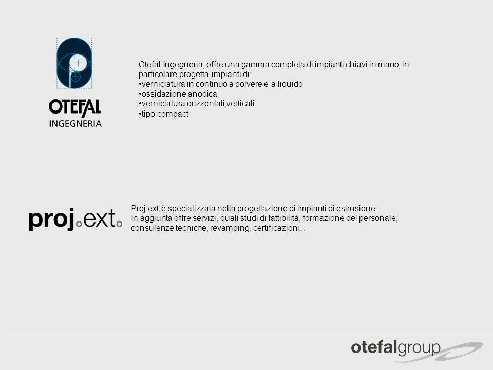 Proj ext è specializzata nella progettazione di impianti di estrusione. In aggiunta offre servizi, quali studi di fattibilità, formazione del personal