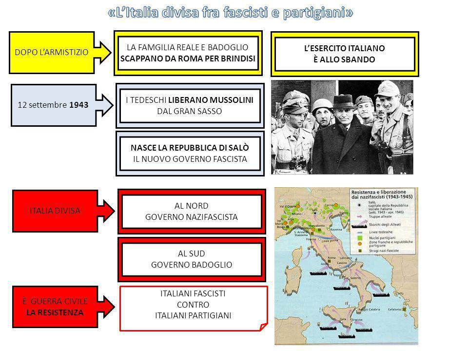 12 settembre 1943 I TEDESCHI LIBERANO MUSSOLINI DAL GRAN SASSO DOPO LARMISTIZIO LA FAMGILIA REALE E BADOGLIO SCAPPANO DA ROMA PER BRINDISI LESERCITO I