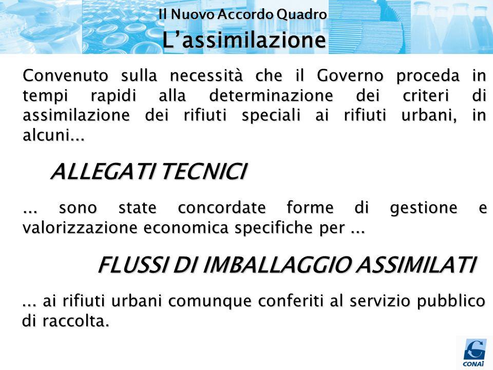 Convenuto sulla necessità che il Governo proceda in tempi rapidi alla determinazione dei criteri di assimilazione dei rifiuti speciali ai rifiuti urbani, in alcuni......