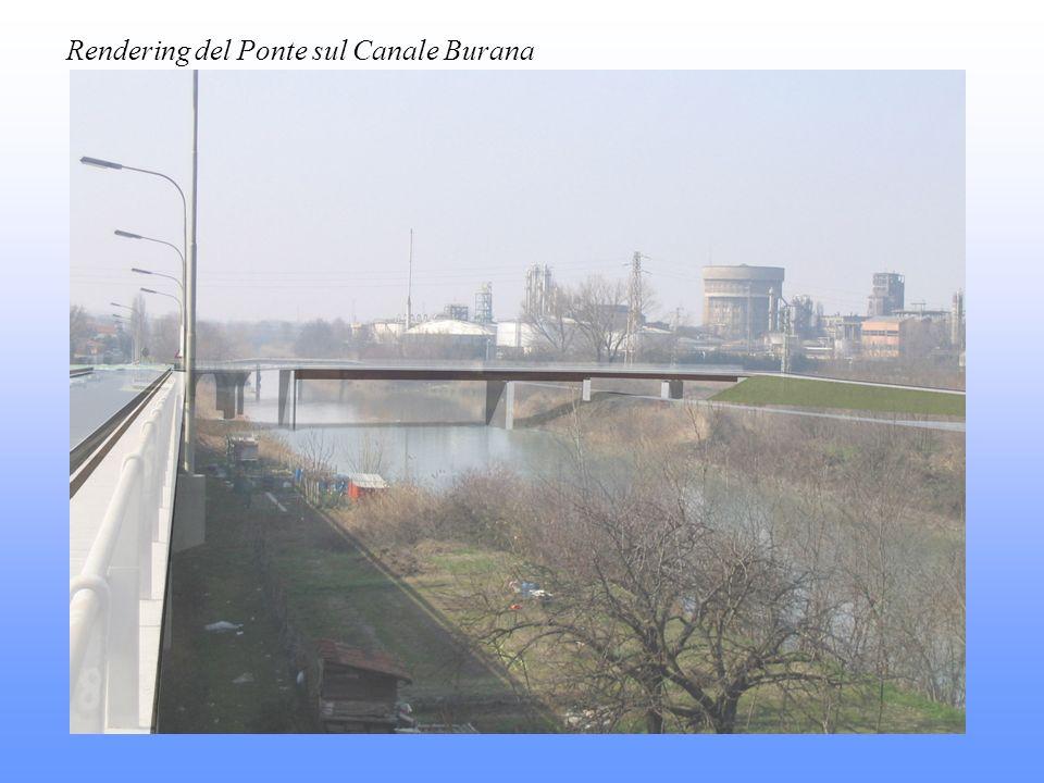 Rendering del Ponte sul Canale Burana
