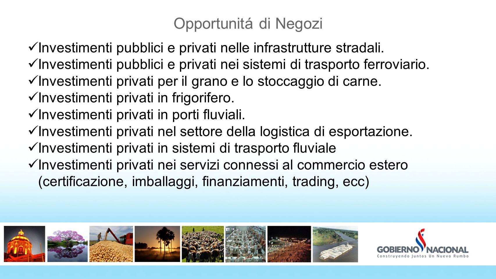 Opportunitá di Negozi Investimenti pubblici e privati nelle infrastrutture stradali. Investimenti pubblici e privati nei sistemi di trasporto ferrovia