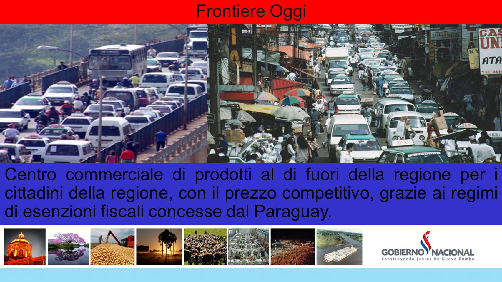 Frontiere Oggi Centro commerciale di prodotti al di fuori della regione per i cittadini della regione, con il prezzo competitivo, grazie ai regimi di