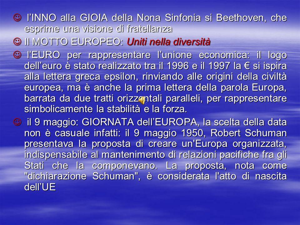 lINNO alla GIOIA della Nona Sinfonia si Beethoven, che esprime una visione di fratellanza lINNO alla GIOIA della Nona Sinfonia si Beethoven, che espri