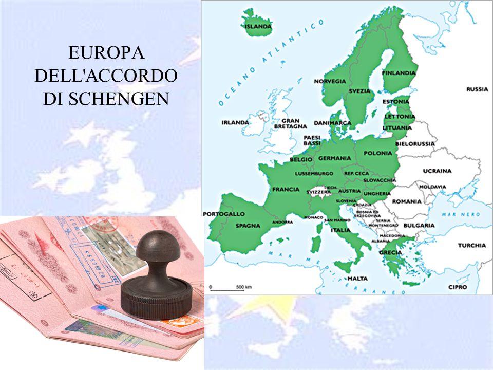 EUROPA DELL'ACCORDO DI SCHENGEN