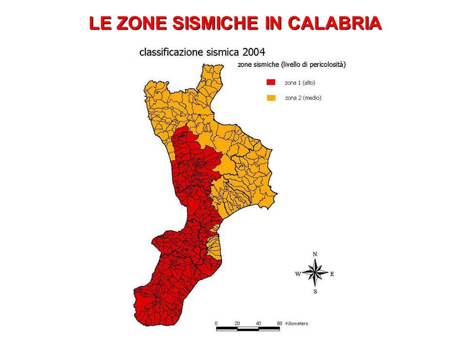 LE ZONE SISMICHE IN CALABRIA