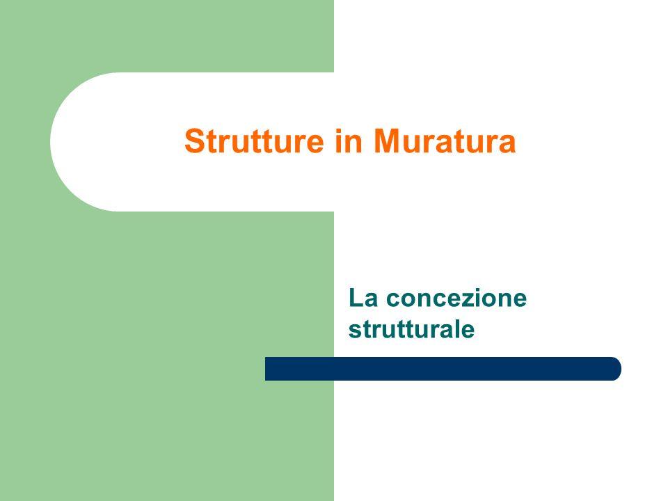 Strutture in Muratura La concezione strutturale