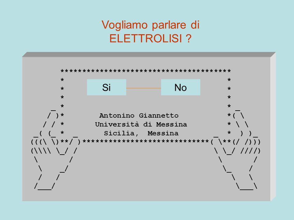 *************************************** * * _ * * _ / )* Antonino Giannetto *( \ / / * Università di Messina * \ \ _( (_ * _ Sicilia, Messina _ * ) )_