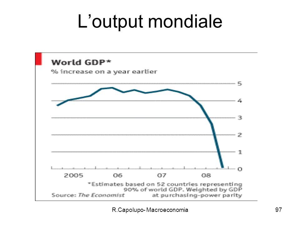 R.Capolupo- Macroeconomia97 Loutput mondiale