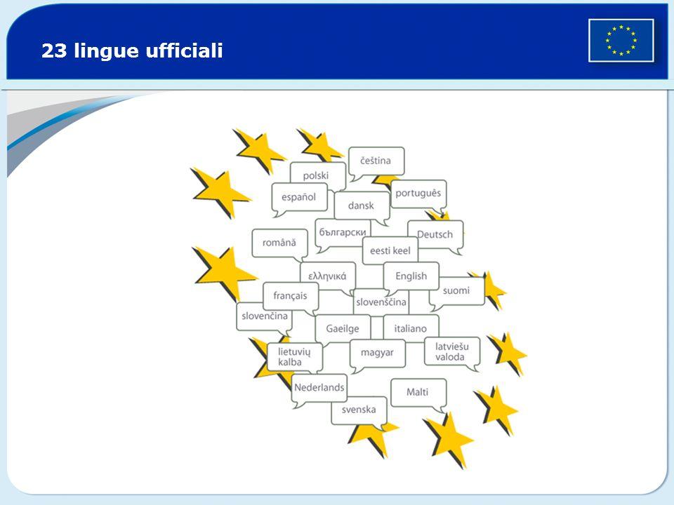 23 lingue ufficiali