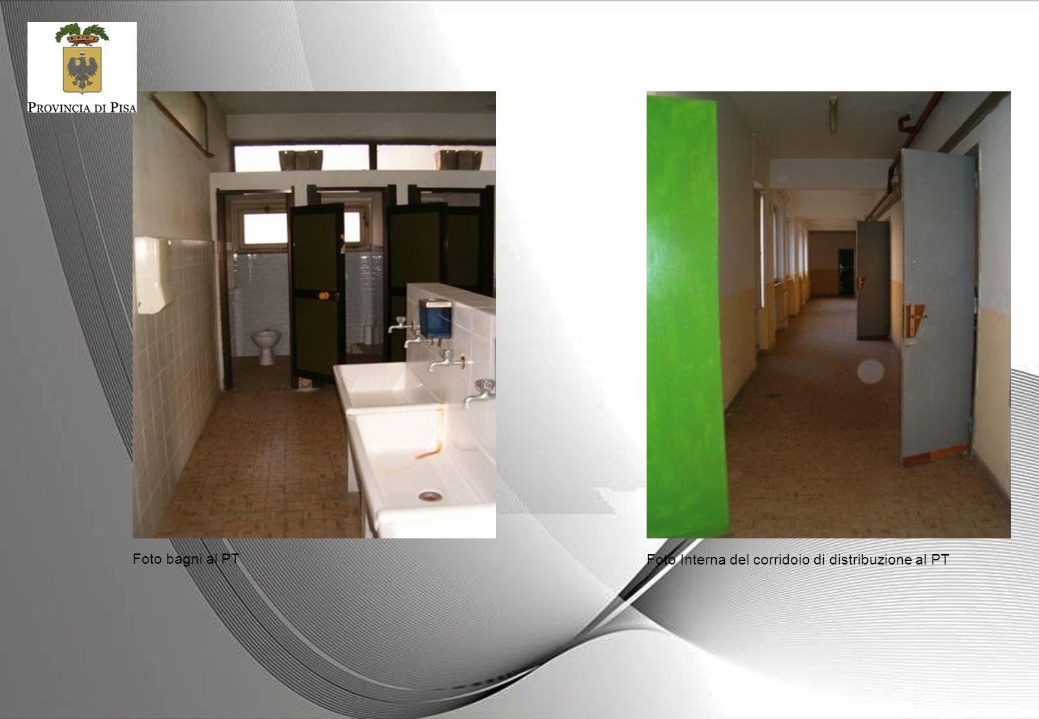 Foto bagni al PT Foto Interna del corridoio di distribuzione al PT
