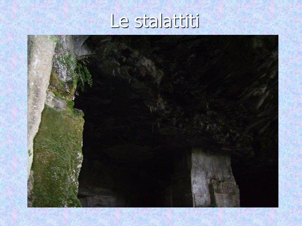 Una foto di un inizio di stalagmite formata dal gocciolamento dellacqua