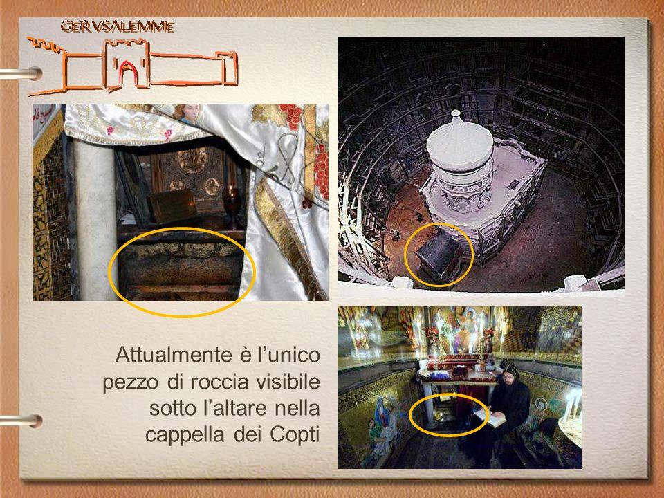 Attualmente è lunico pezzo di roccia visibile sotto laltare nella cappella dei Copti