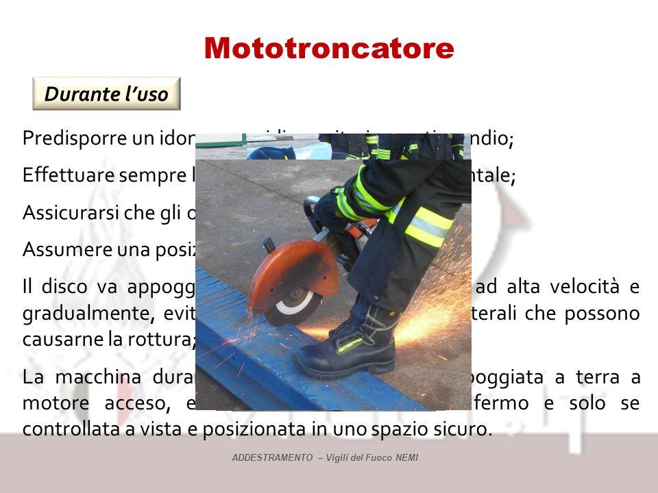 Mototroncatrice Attenzioni ATTENZIONE: non utilizzare la mototroncatrice su alluminio, rischio di distacco del disco IMPORTANTISSIMO Mai usare un disc