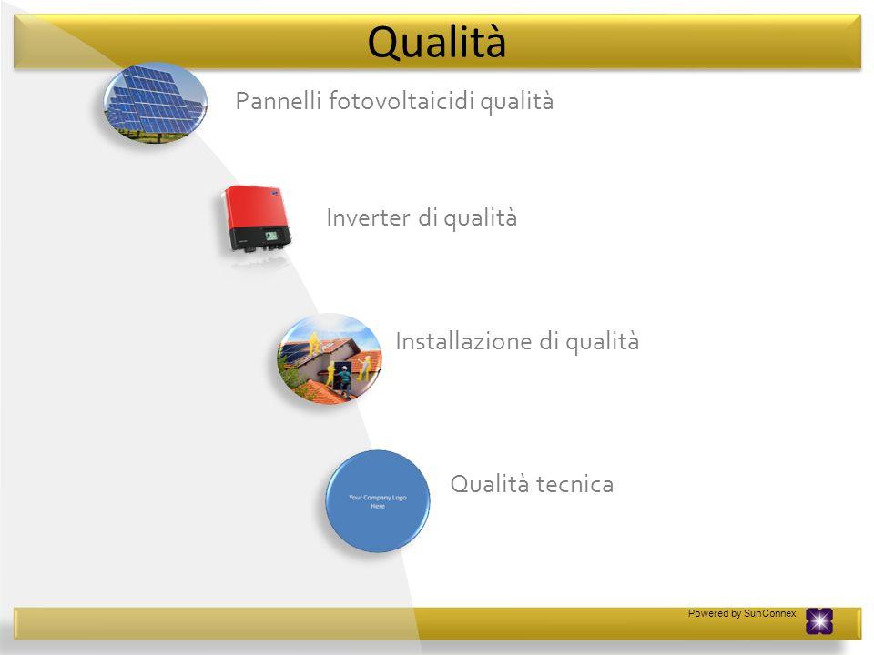 Pannelli fotovoltaicidi qualità Inverter di qualità Installazione di qualità Qualità tecnica Qualità