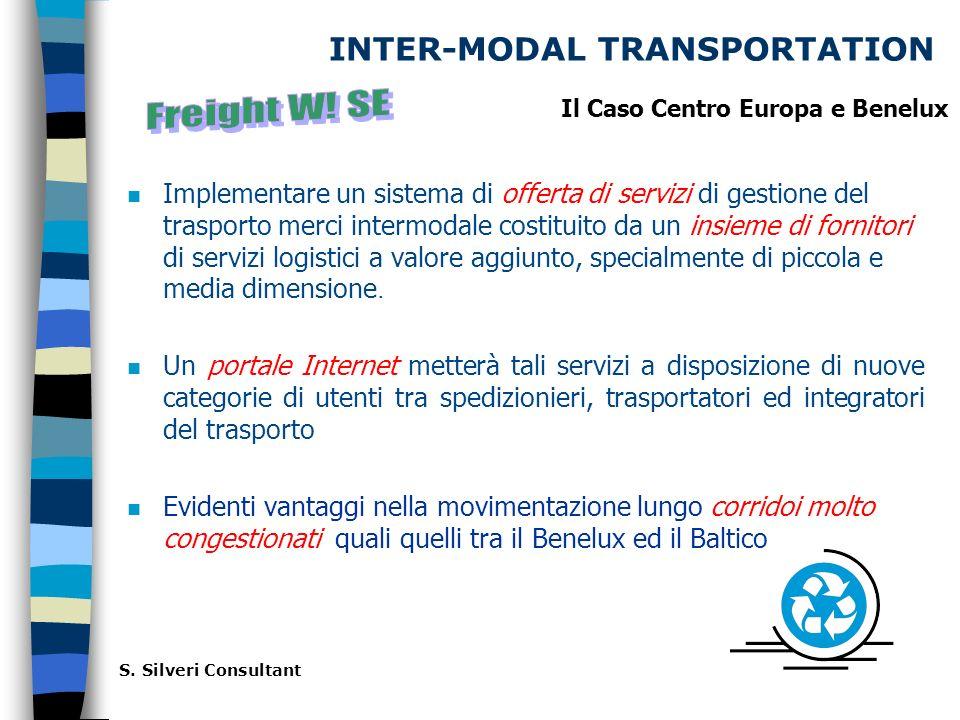 INTER-MODAL TRANSPORTATION Implementare un sistema di offerta di servizi di gestione del trasporto merci intermodale costituito da un insieme di fornitori di servizi logistici a valore aggiunto, specialmente di piccola e media dimensione.