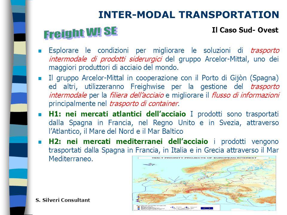 INTER-MODAL TRANSPORTATION n Esplorare le condizioni per migliorare le soluzioni di trasporto intermodale di prodotti siderurgici del gruppo Arcelor-Mittal, uno dei maggiori produttori di acciaio del mondo.