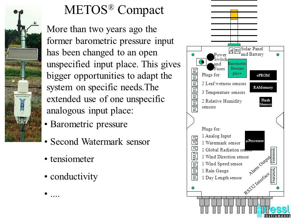 1024 kb Flash Memoria - 6 mesi di autonomia 16 bit s µProcessore Siemens 8/20 bit ADC Intervallo di misurazione 12 minuti Intervallo di logging 12 min