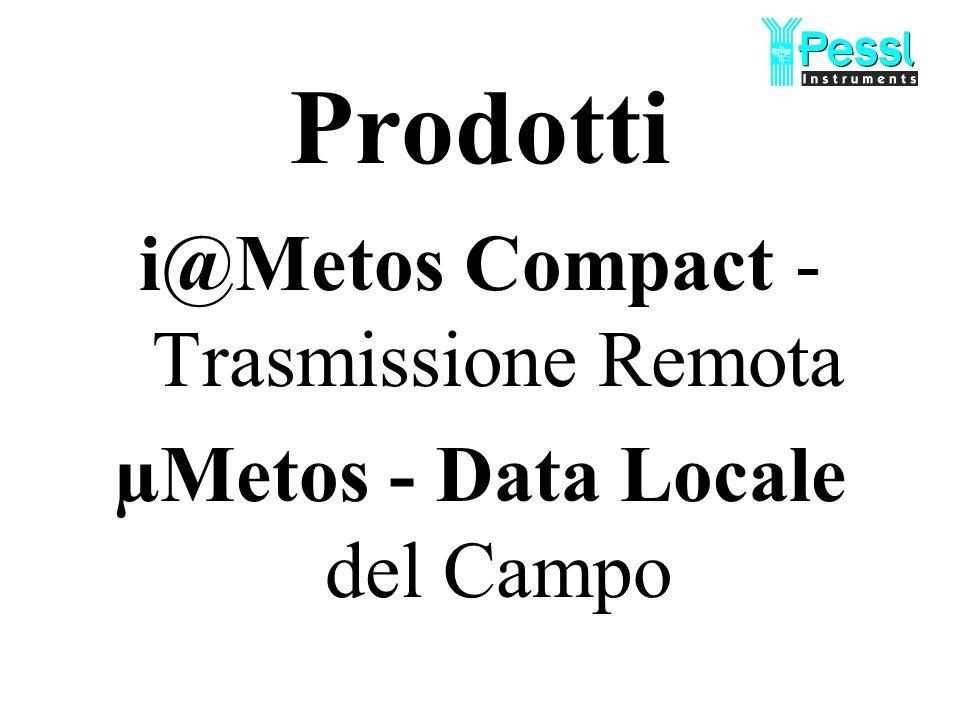 Prodotti i@Metos Compact - Trasmissione Remota µMetos - Data Locale del Campo