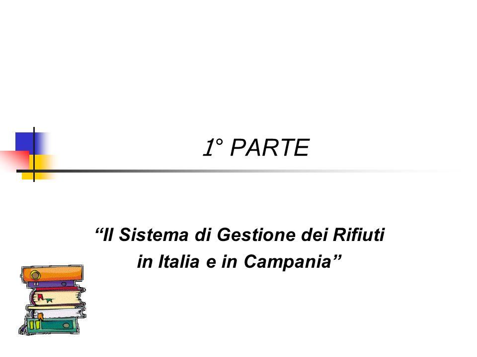 1 ° PARTE Il Sistema di Gestione dei Rifiuti in Italia e in Campania