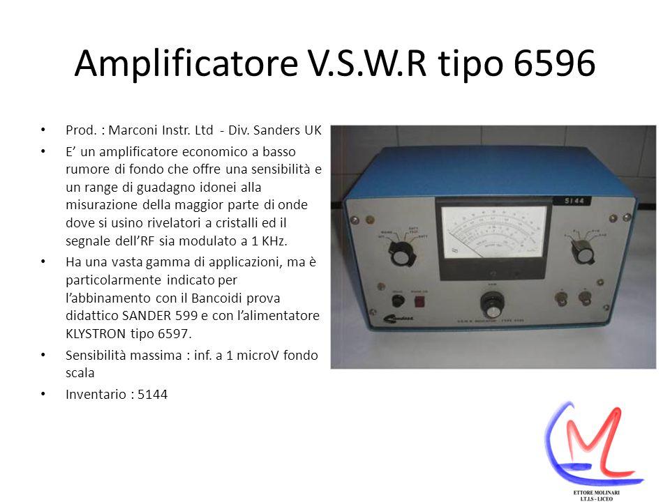 Amplificatore V.S.W.R tipo 6596 Prod.: Marconi Instr.