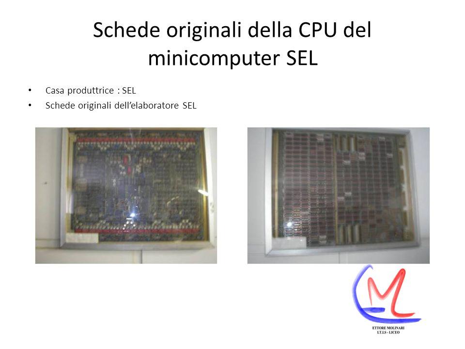 Schede originali della CPU del minicomputer SEL Casa produttrice : SEL Schede originali dellelaboratore SEL
