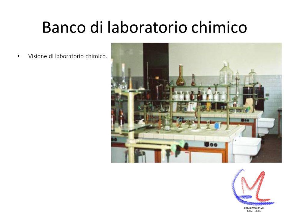 Banco di laboratorio chimico Visione di laboratorio chimico.