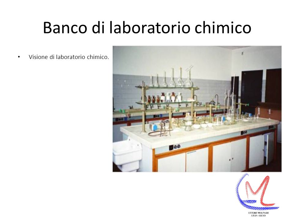 Banco di laboratorio chimico Visione di laboratorio chimico