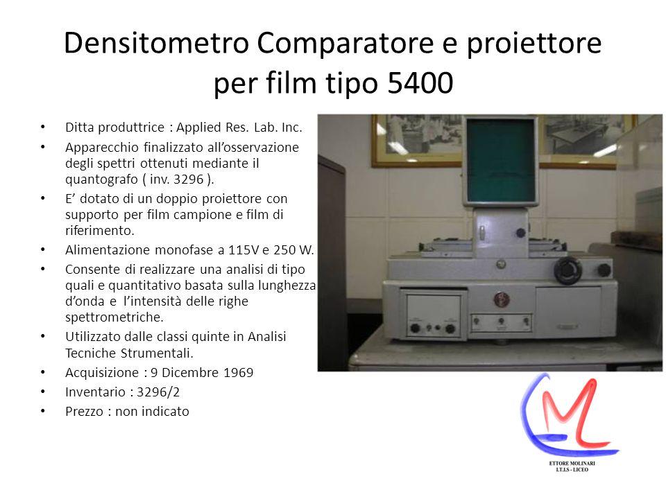 Densitometro Comparatore e proiettore per film tipo 5400 Ditta produttrice : Applied Res.