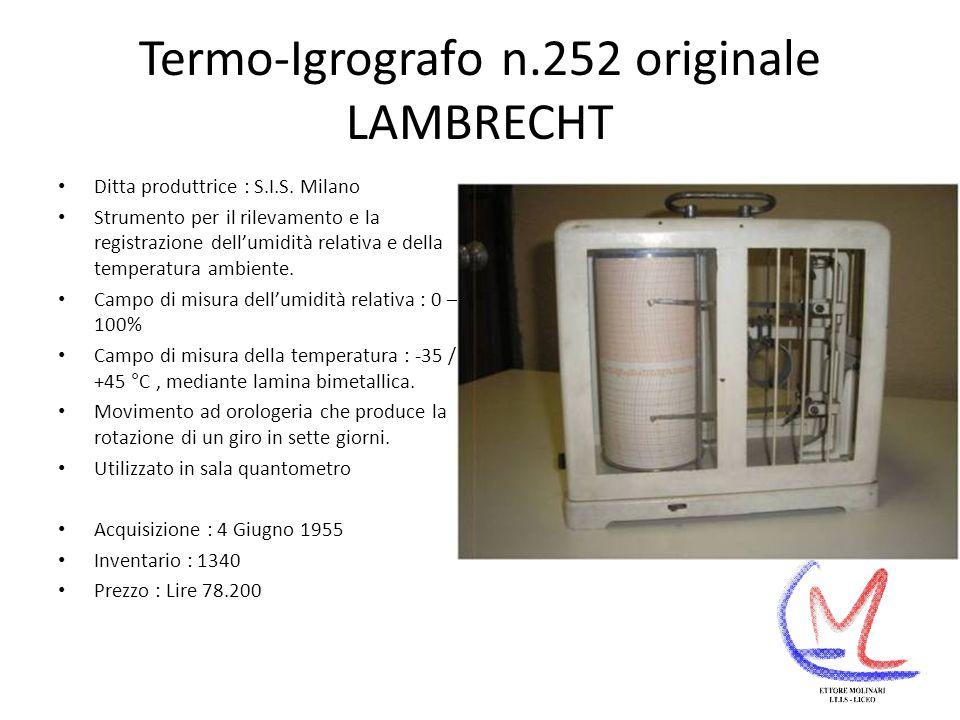 Termo-Igrografo n.252 originale LAMBRECHT Ditta produttrice : S.I.S.