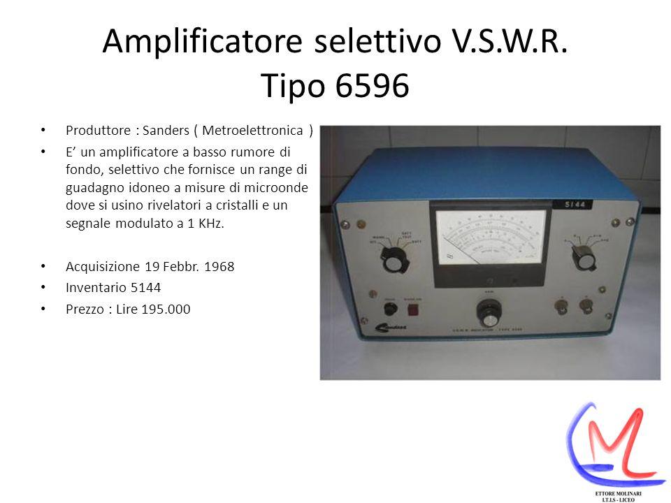 Amplificatore selettivo V.S.W.R.