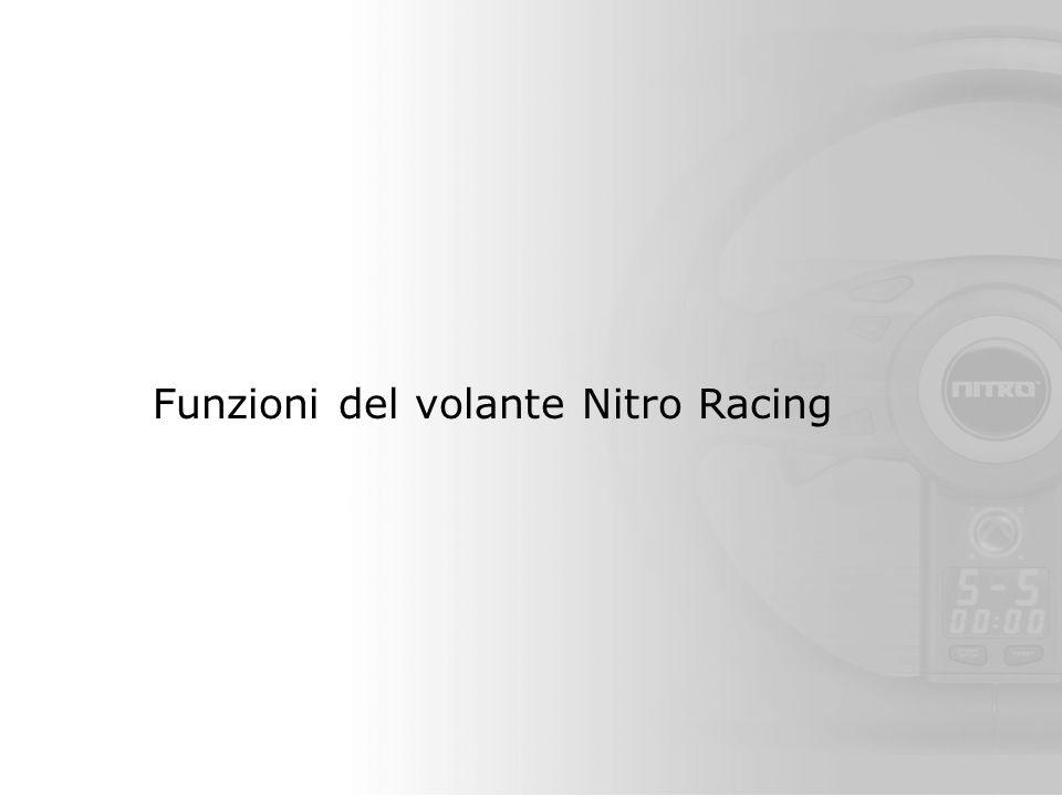 Funzioni del volante Nitro Racing