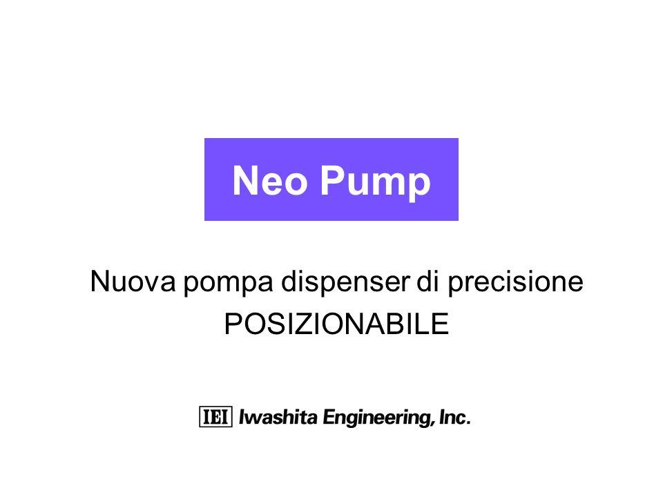 Neo Pump Nuova pompa dispenser di precisione POSIZIONABILE