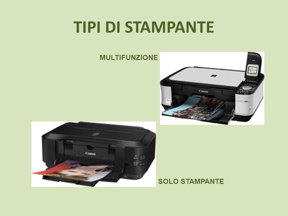 CARTUCCE SEPARATE Se volete acquistare una stampante inkjet, assicuratevi sempre di sapere il tipo di cartuccia da usare.