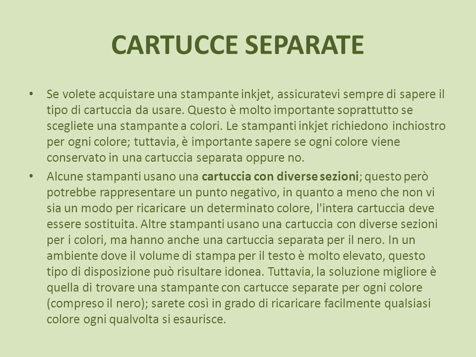 CARTUCCE SEPARATE