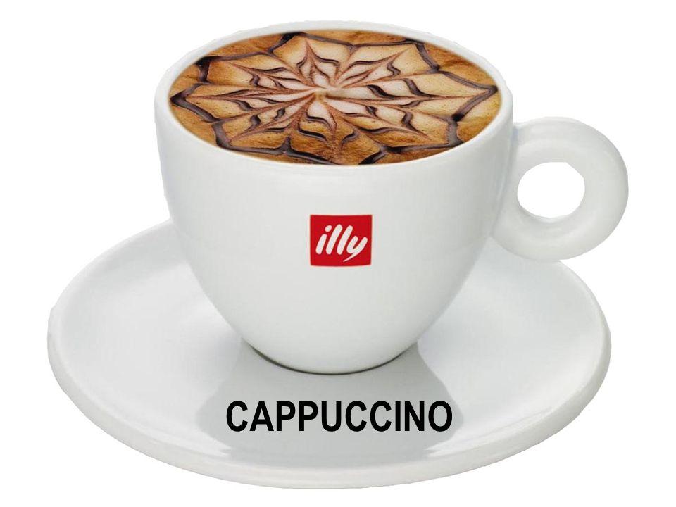 Capuccino, latte e caffè espresso