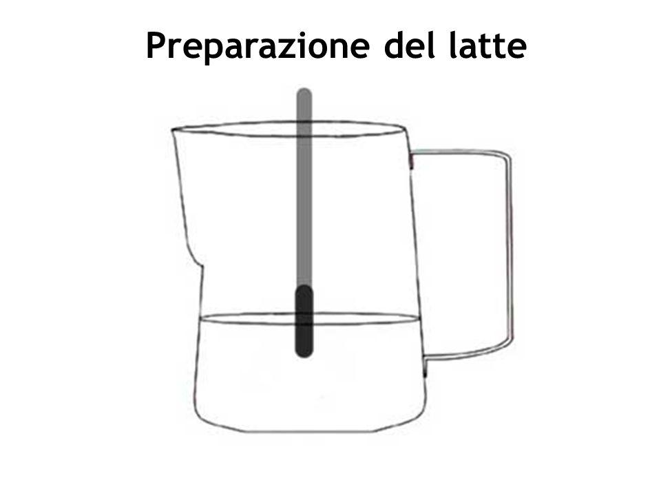 1.Scegliere una caraffa per contenere la quantità di latte necessaria.